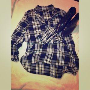 Black/white plaid dress